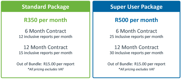 Commercial Pricing Table